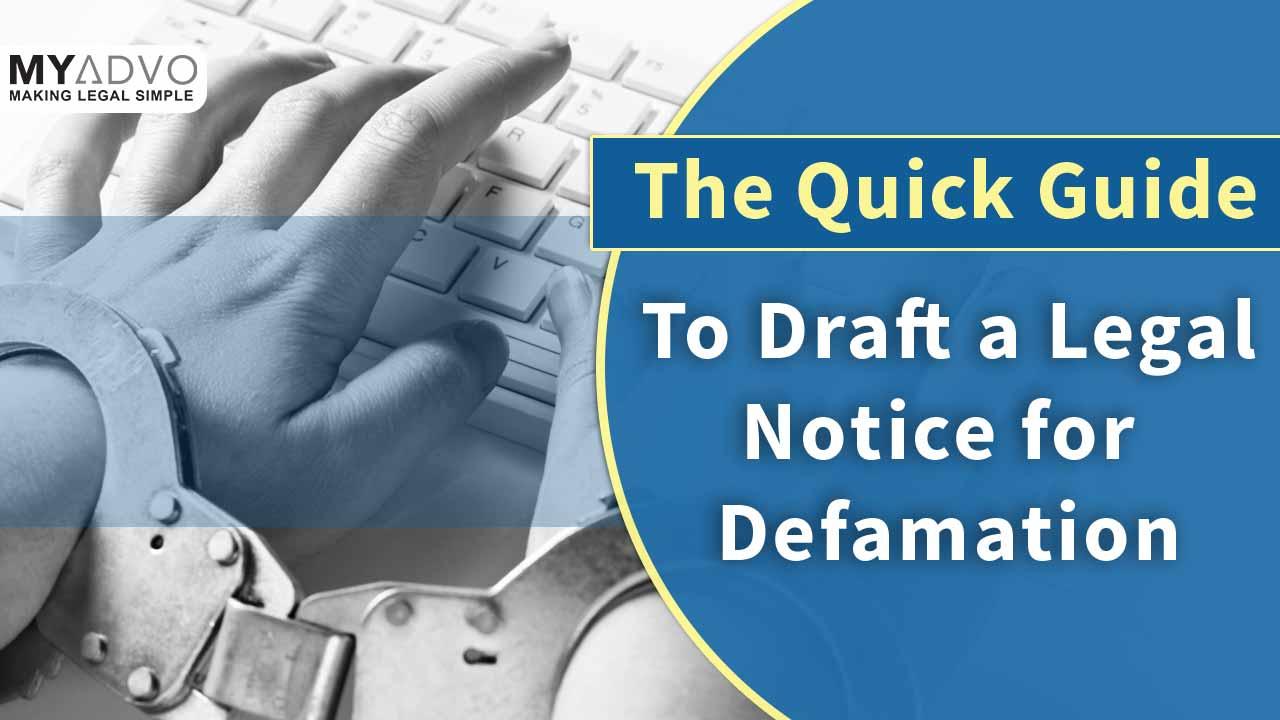 legal notice for defamation
