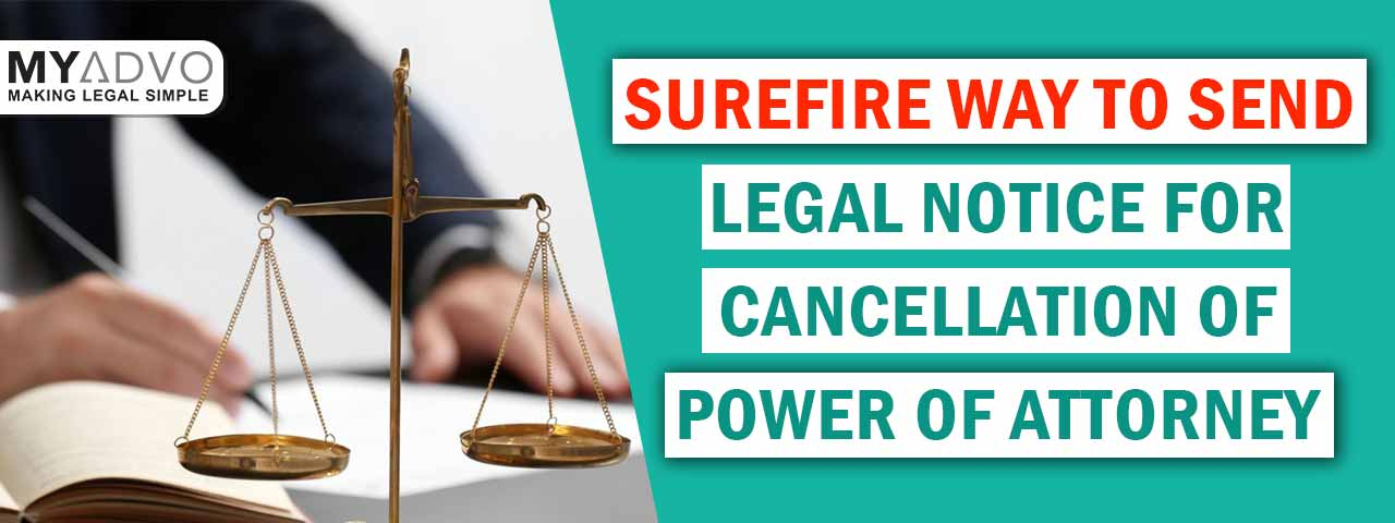 Legal Notice for Cancellation of Power of Attorney